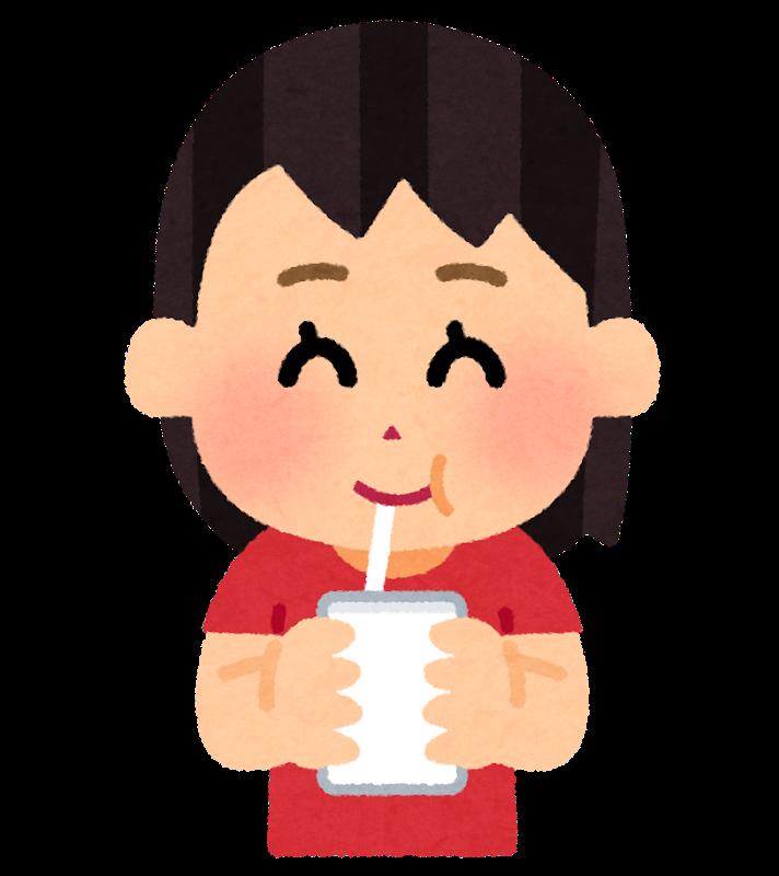 ノビエースを飲む子供