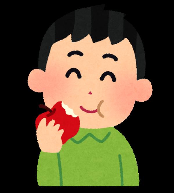ノビルンジャーのりんご味に満足する男子